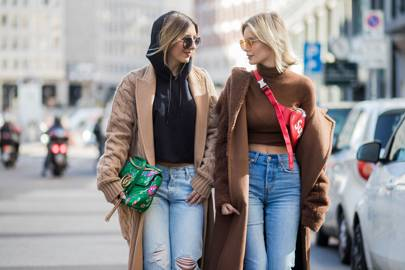 4971d79c826 Accessories are fashion semaphore and a multi-billion pound income stream  for fashion houses. Here fashion bloggers Aylin Koenig (left) and Lisa  Hahnbueck ...