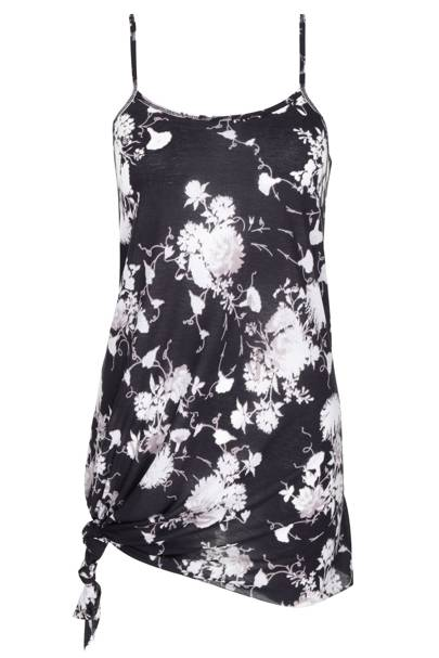 Floral printed cotton knot vest, £22
