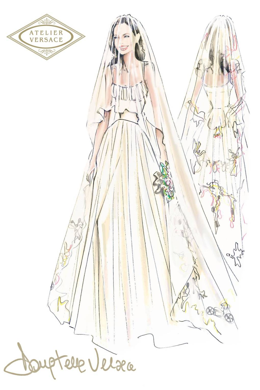 Angelina Jolie Wedding Dress Designer Revealed Versace | British Vogue