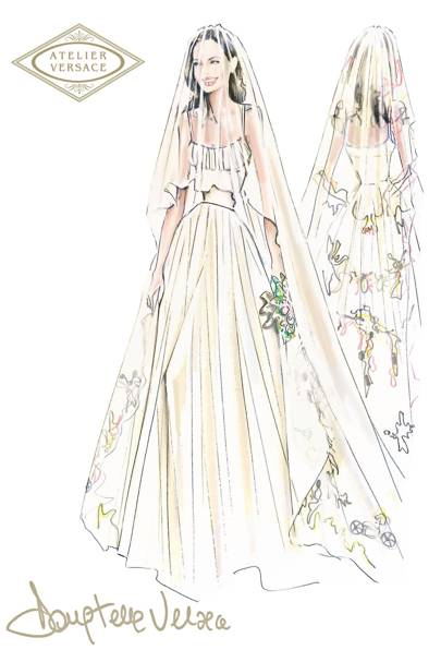 Angelina Jolie Wedding Dress Designer Revealed Versace | British Vogue