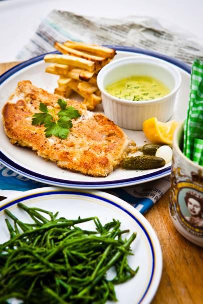 Fish, Celeriac Chips & Tartare Sauce