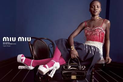 Lupita Nyong'o for Miu Miu spring/summer 2014
