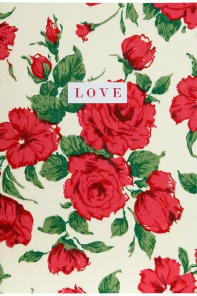 Carline Print Love Card