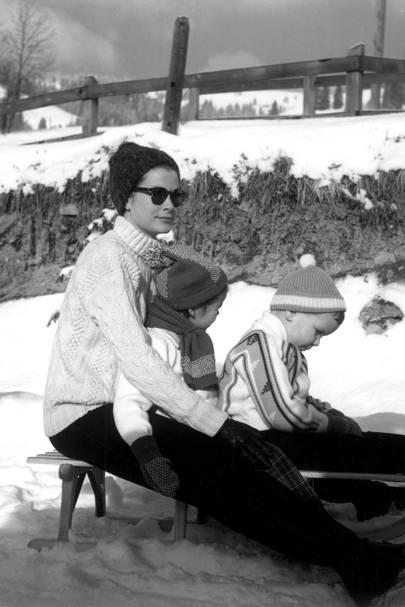 Princess Grace, Caroline and Albert of Monaco