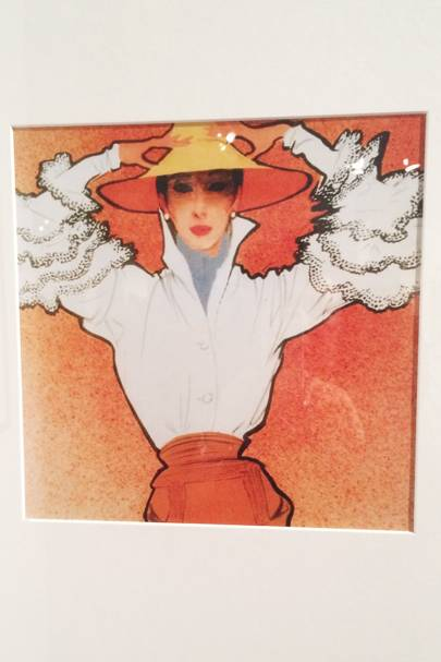 4ed077bd27188 Illustration by Rene Gruau of the famous  Bettina-Blouse