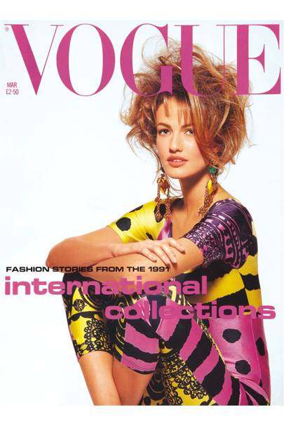 Karen Mulder - Vogue March 1991
