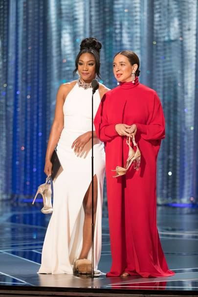 Tiffany Haddish puts comfort first, wears Uggs on stage