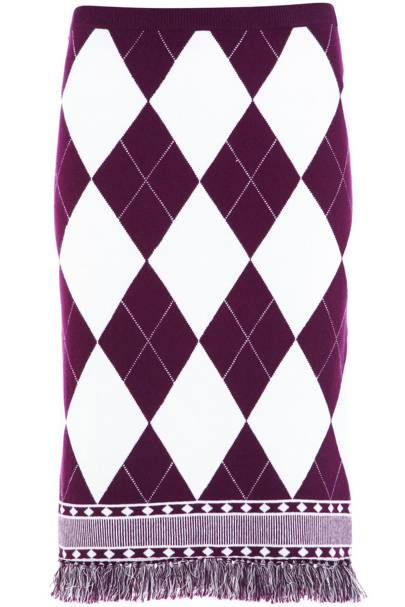 Fringed pencil skirt, £65