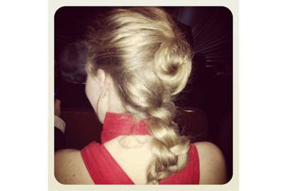 Amanda Siegfried's perfect plait.