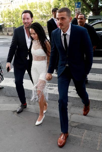 Zoë Kravitz for keeping her wedding under wraps