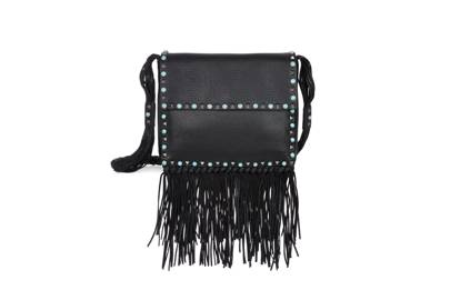 Valentino's fringed, studded bag is cool enough for a festival and adds a touch of toughness to a romantic gown