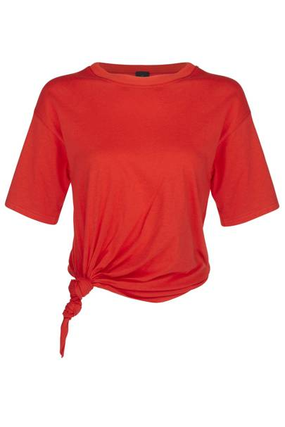 Red cotton knot T-shirt, £20