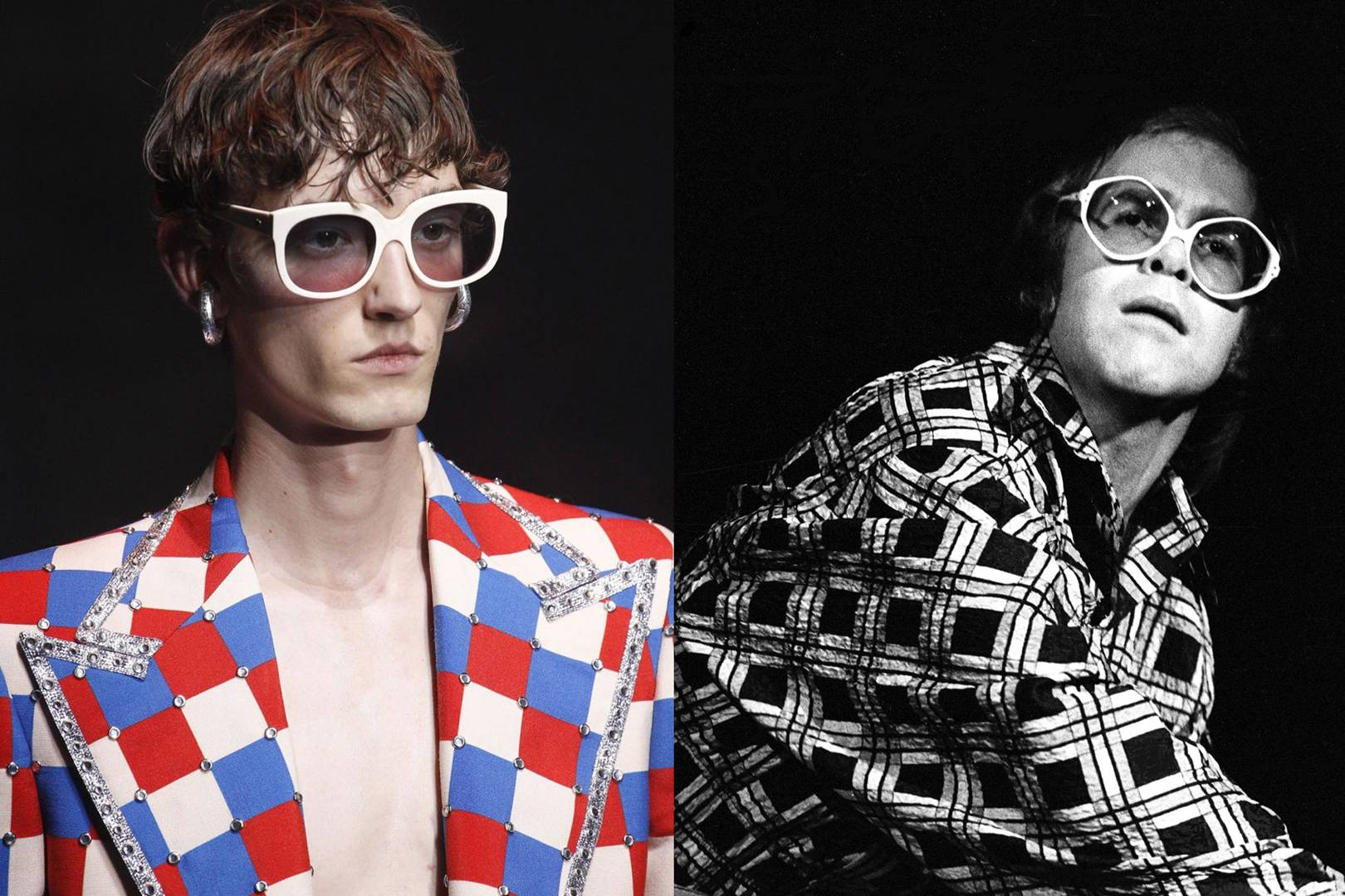 c60eafaf7 A Tribute To Alessandro Michele's Elton John-Inspired Gucci Collection |  British Vogue