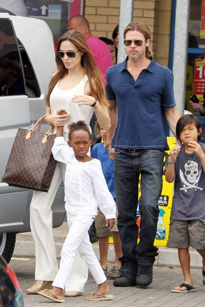 Angelina Jolie & Zahara Jolie-Pitt