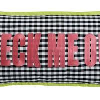 Check Me Out slogan cushion