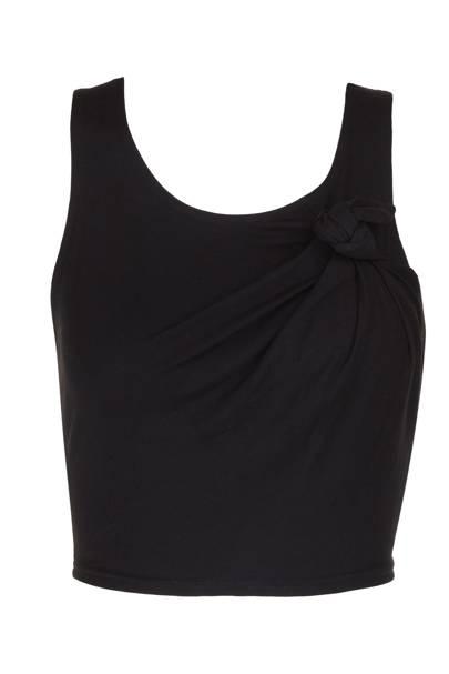 Cropped black vest, £20