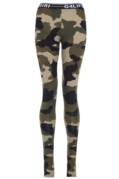Camouflage leggings, £25