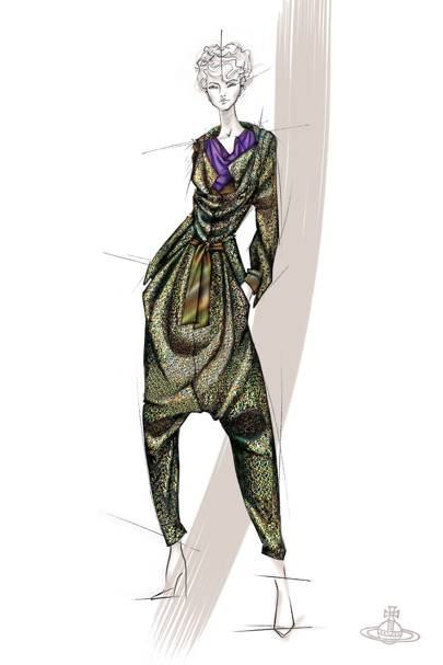 A sketch by Vivienne Westwood