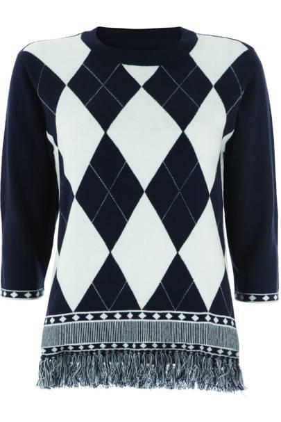 Fringed knit jumper, £75