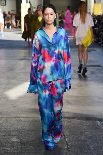 Milan Fashion Week Trend Tie Dye On The Catwalk British