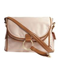 Chloé pink satin and leather changing bag