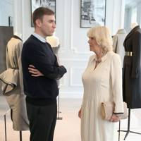 The Duchess of Cornwall with Raf Simons