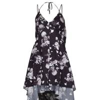 Floral satin and chiffon mix dress, £70