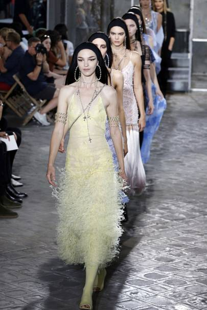 Mariacarla Boscono, Tisci's long-time muse, leads the finale