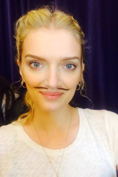 Lily Donaldson goofing around at Giles