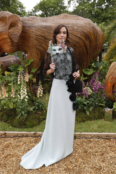 Alexa Chung Channels Her Inner Seahorse In Prada At The Animal Ball