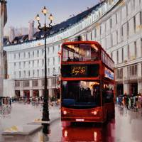 London Bus by Kal Gajoum