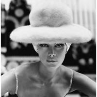 Veruschka, Vogue October 1st 1965, by Henry Clarke. Hat by Otto Lucas.