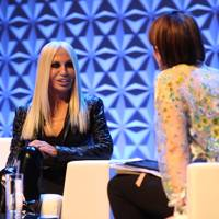 Donatella Versace at the Vogue Festival