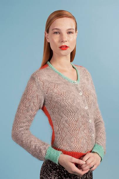 Mohair lace cardigan, £195