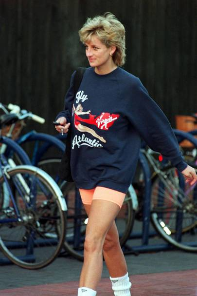 celebrity trend cycling shorts british vogue