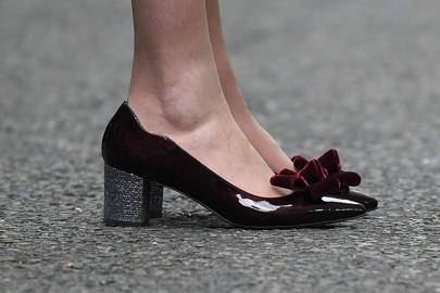 Theresa May Wearing Diamond Studded Shoes