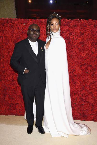 Edward Enninful and Jourdan Dunn