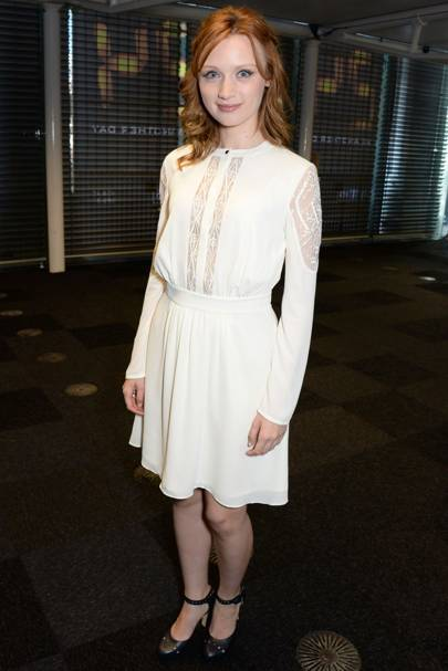 Emily Berrington wearing the ALICE by Temperley dawn dress at the [i]24[/i] UK premiere