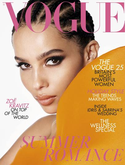 bd7ce8a84 July 2019. Zoe Kravitz covers the July issue ...