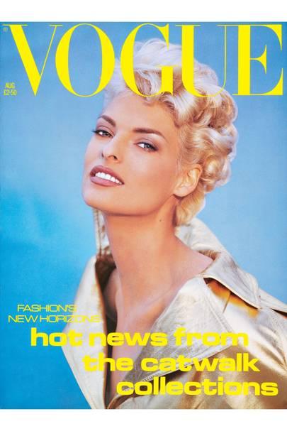 August 1991, Linda Evangelista