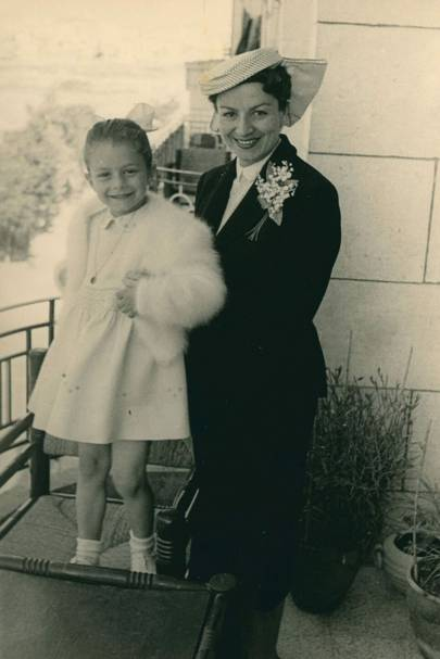 May Gazalé Sikias with her mother in 1955.