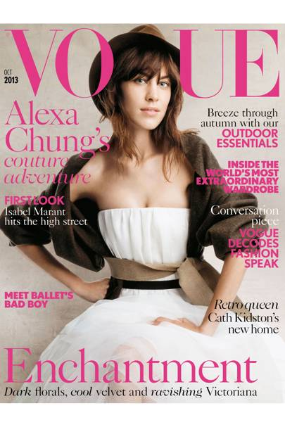Vogue cover, October 2013