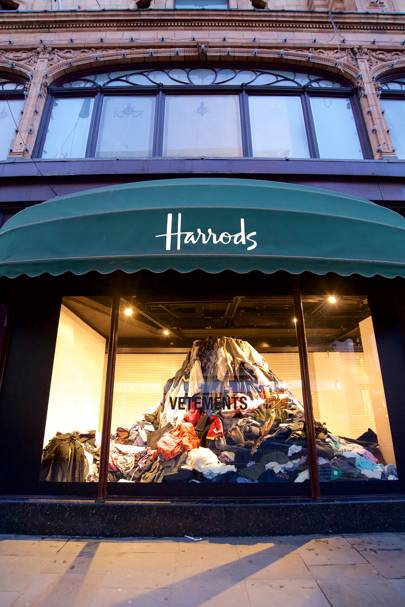 At Harrods Vetements Calls Out The Fashion Industry On
