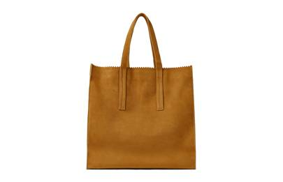 Zara leather tote bag