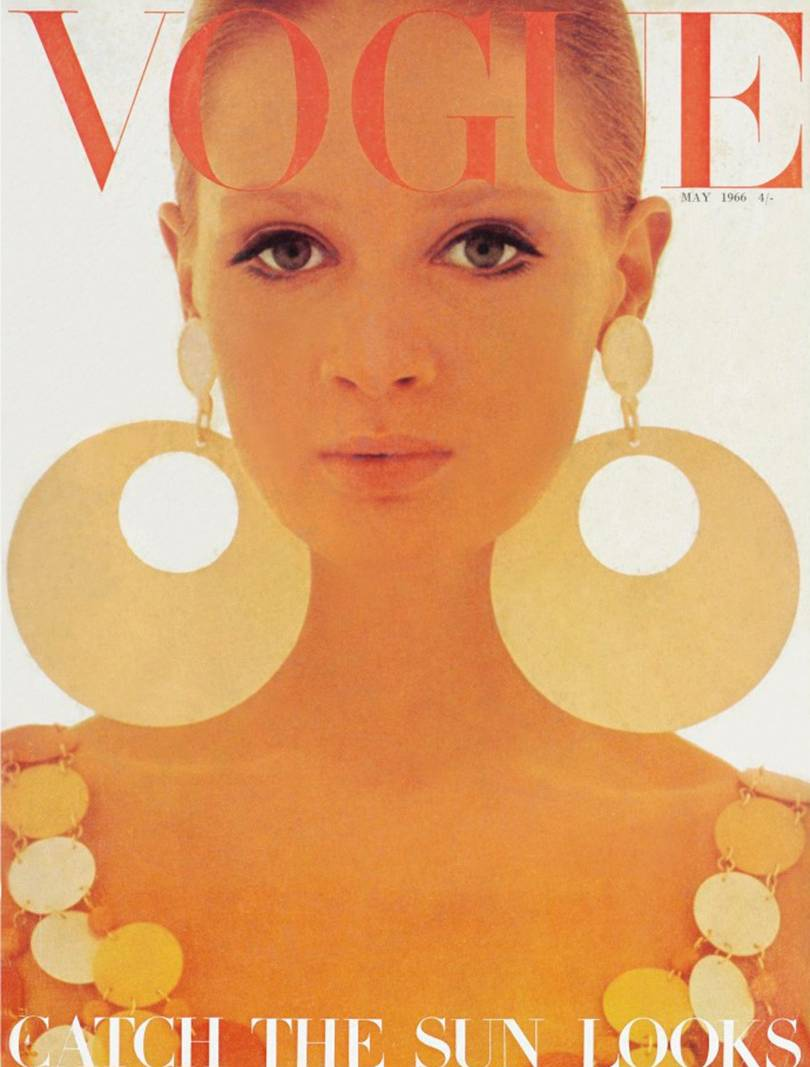Celia Hammond in Paco Rabanne, British Vogue May 1966. Photo by David Bailey