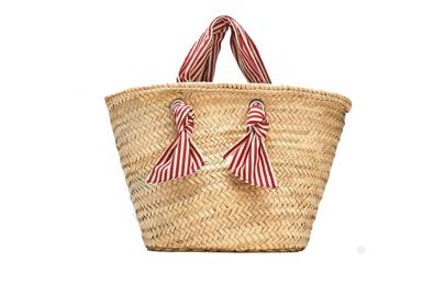 Zara: tote with striped handles