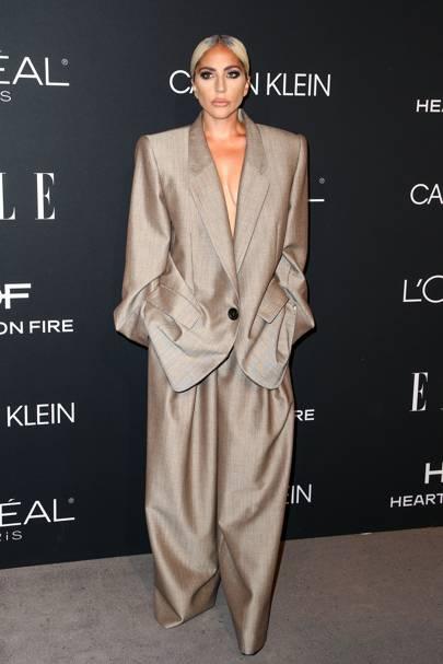 Lady Gaga's Big Suit Energy
