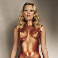 Kate Moss in bronze glitter, 2013, Allen Jones