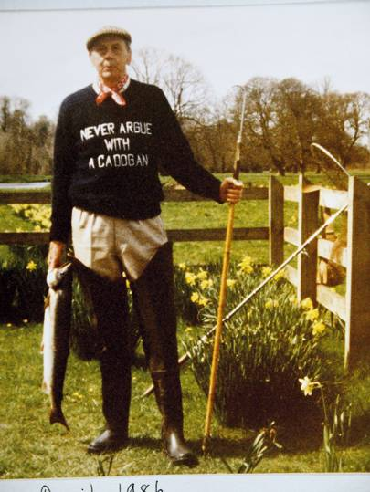 The Duke in one of his bespoke jumpers.