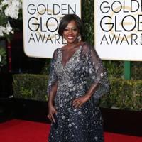 Viola Davis at the 2016 Golden Globes